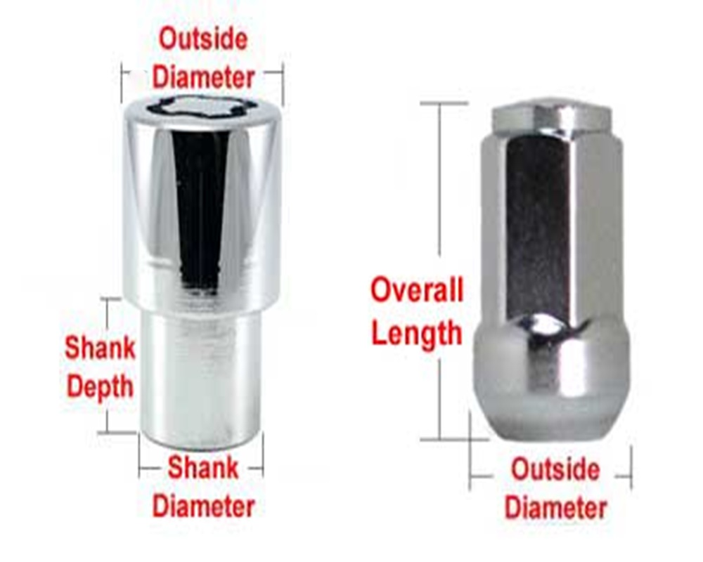 How to Choose Correct Wheel Lug Nuts Size or Wheel Locks for Your