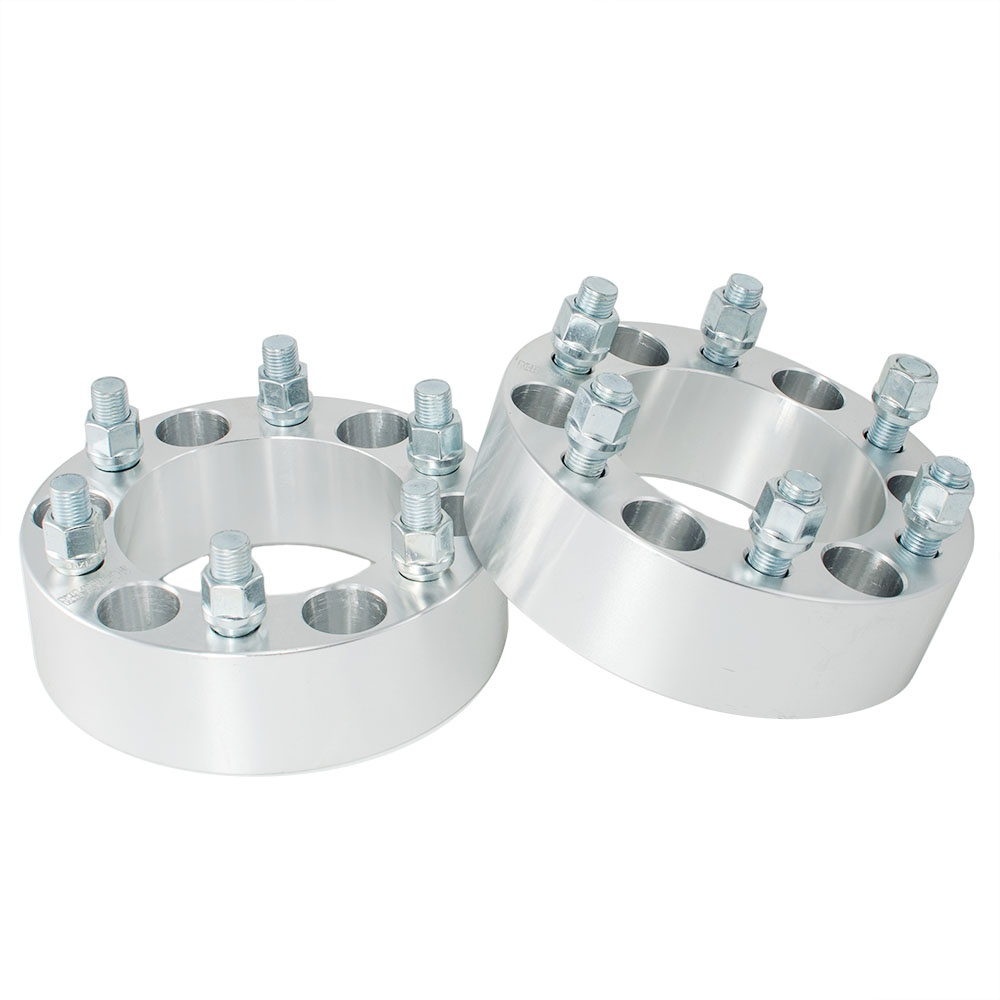 2 Inch 6 Lug Wheel Spacers Adapters 6x5.5 For Chevy Silverado 1500 Tahoe Suburban GMC Sliver 2pcs
