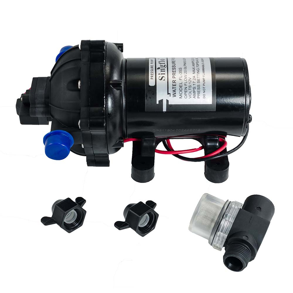 New High Pressure Marine Water Pump on Demand Boat 12 V DC 60PSI 5.5 GPM