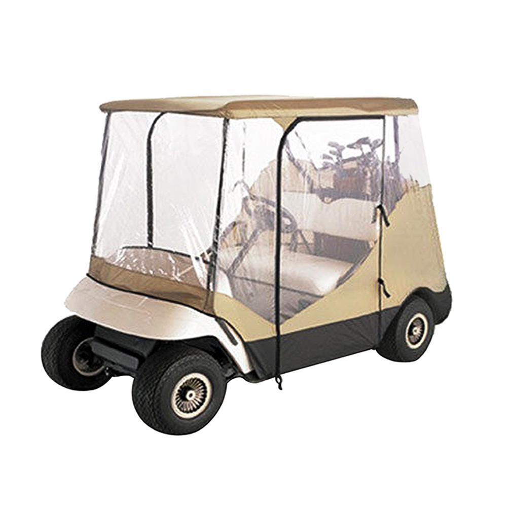 4 Passenger Golf Cart Enclosures For EZ Go Club Car Yamaha Golf Carts With Clear and Zippered Doors
